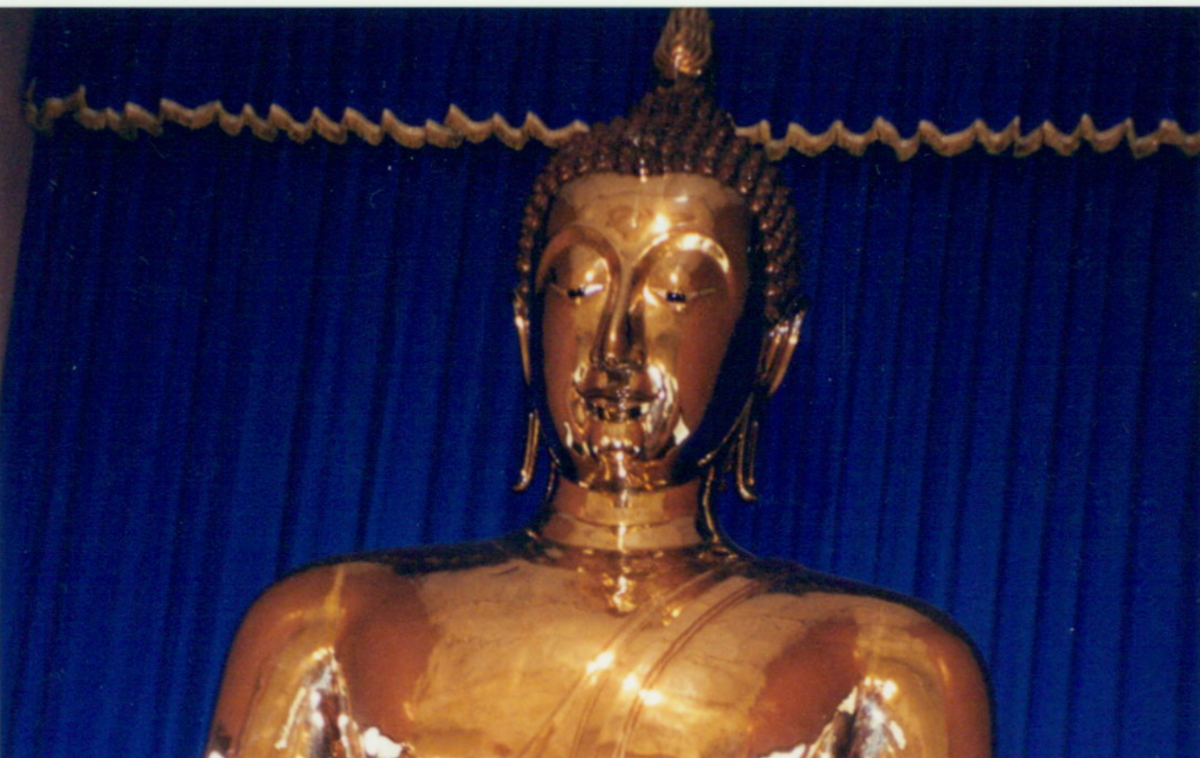 Golden Buddha inspires compassion
