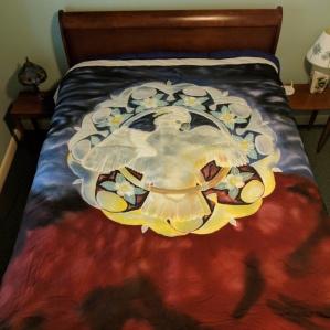 Moluccan Mandala comforter owned by Stewart Metz