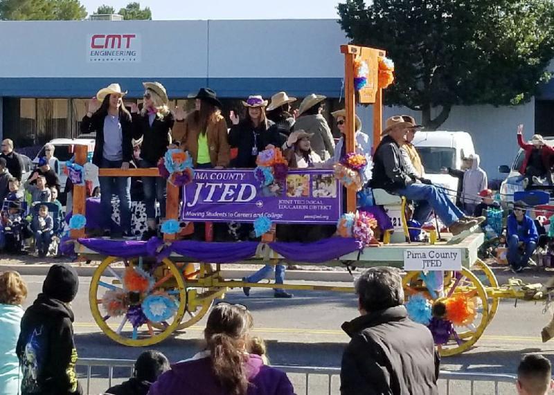 JTED rodeo parade wagon