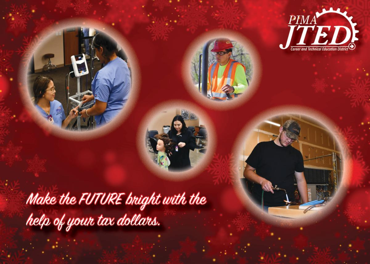 Make the future bright with the help of your tax dollars tax credit postcard