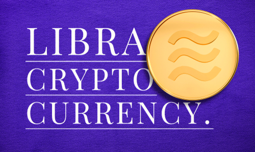 Libra new digital currency. Cryptocurrency concept design with realistic 3d  gold coin with identity color. Brilliant illustration for your electronics financial_ money symbol background.
