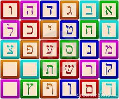 Hebrew letter blocks
