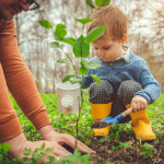 Spring Sweepstakes - child planting tree