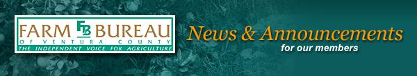 Farm Bureau News & Announcements Banner