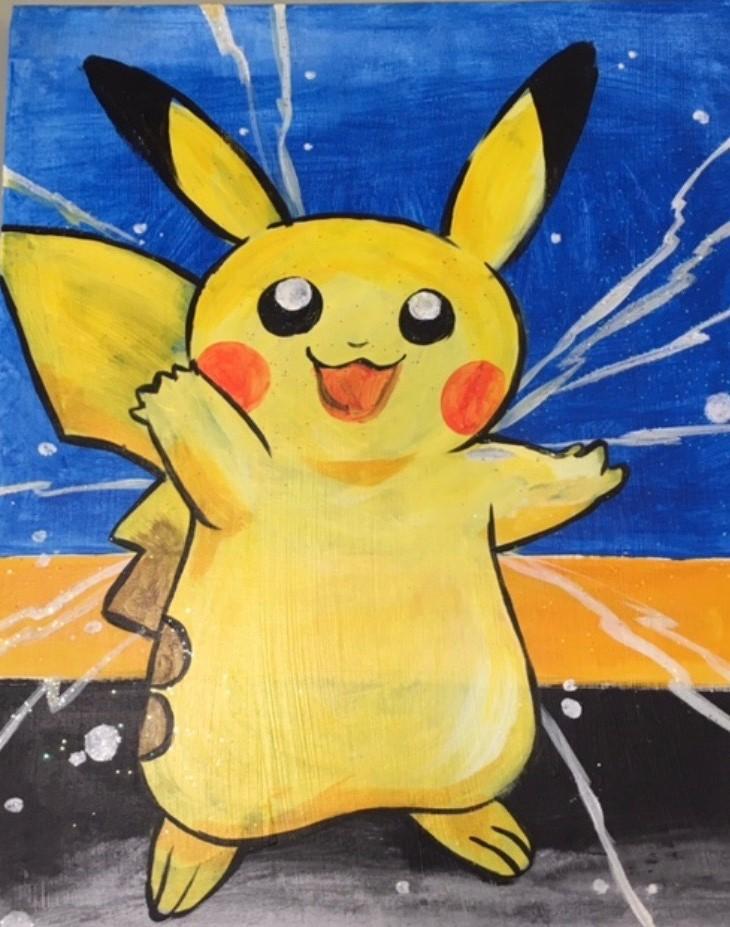 pikachu painitng