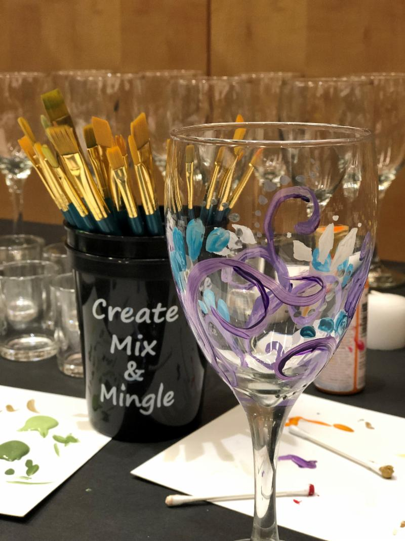 Wine Glass and brushes