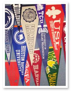 college pennants