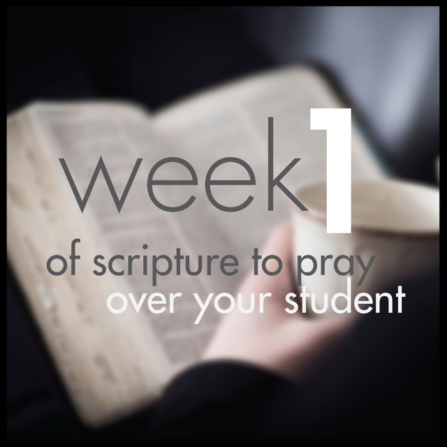 Pray for Students week 1