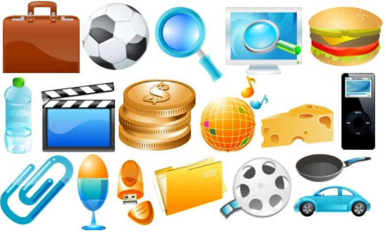 Clipart of random Objects