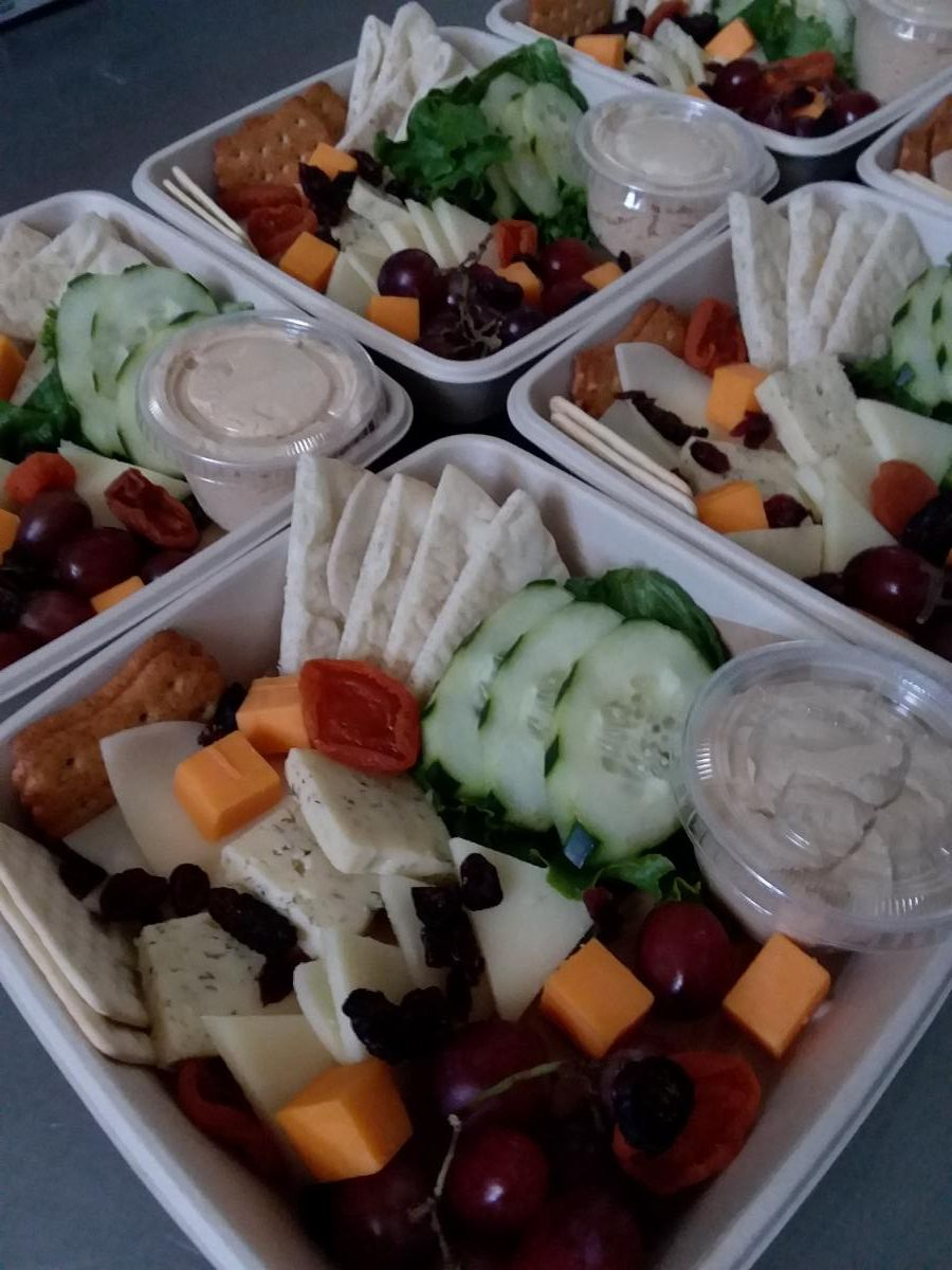 Fruit Cheese Veggie Plate-Cheat A Little Catering