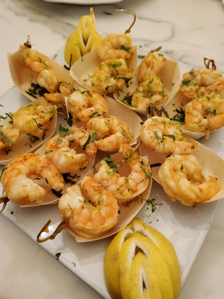 Mojito Shrimp Skewers-Cheat A Little Catering