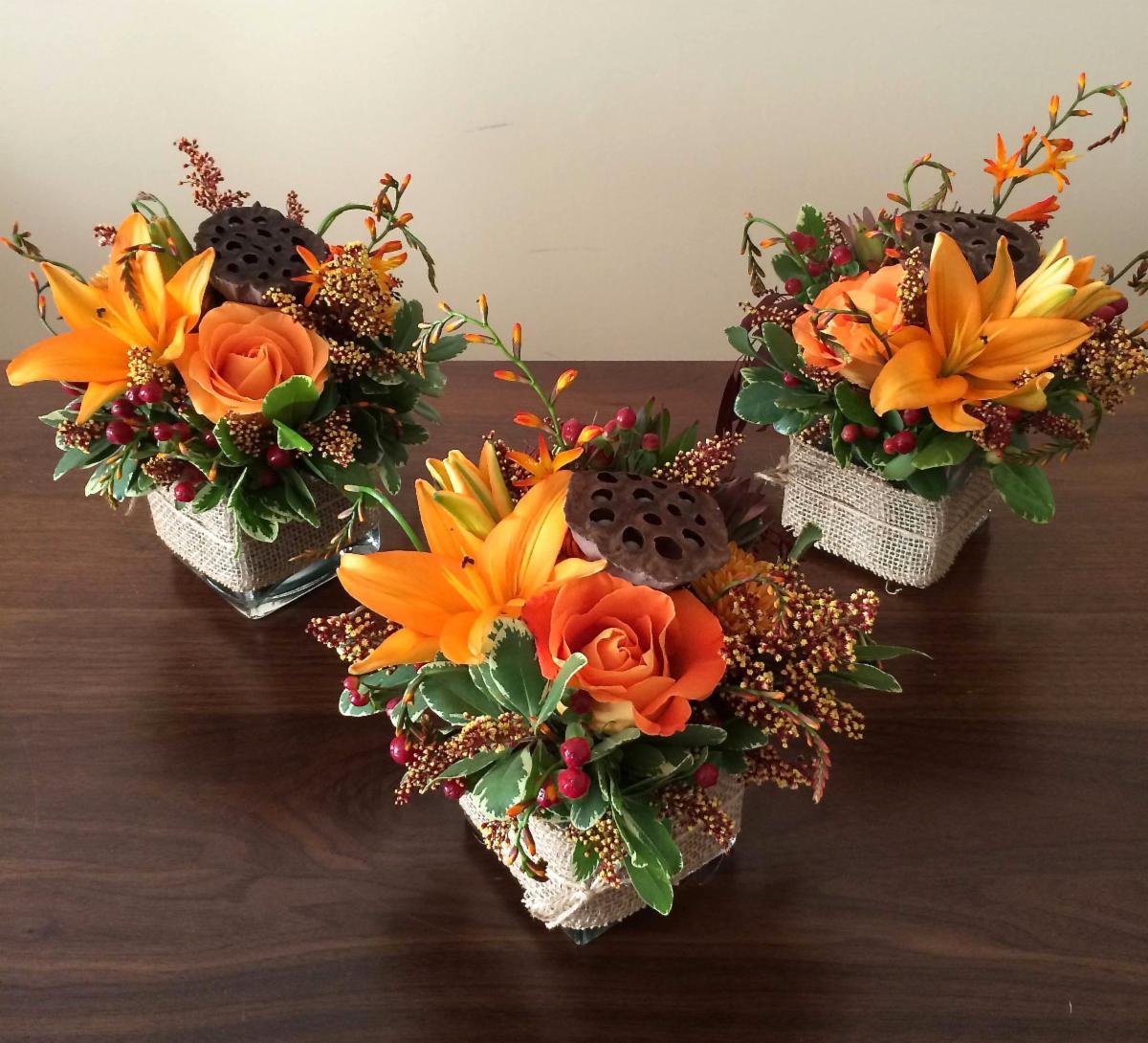 Fall Floral Trio