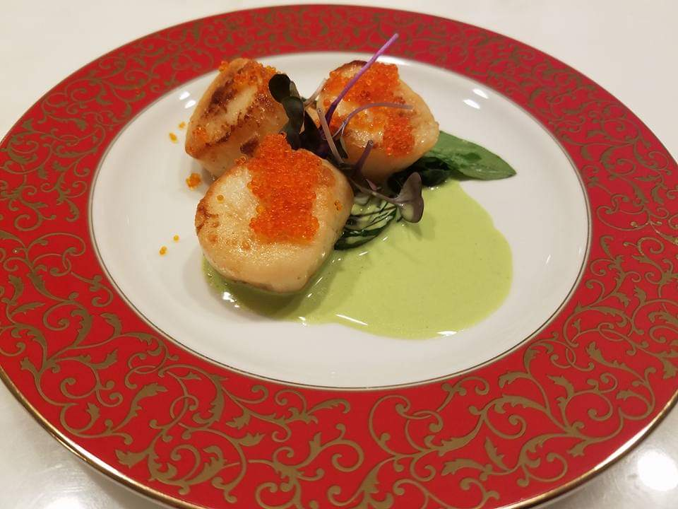 Seared Scallops-Plated-Cheat A Little Catering