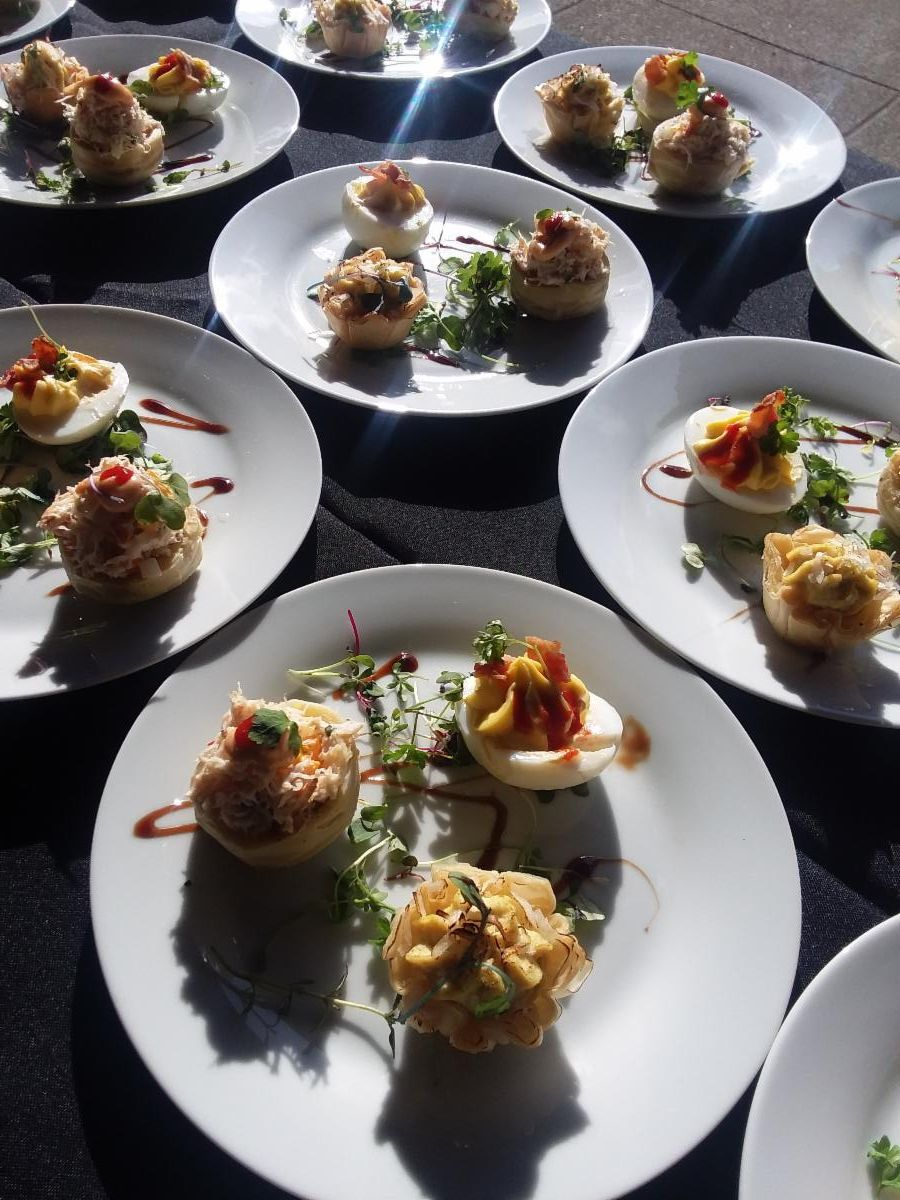 Appetizer Passing Plates-Cheat A Little Catering
