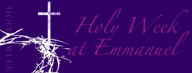 Holy Week Header