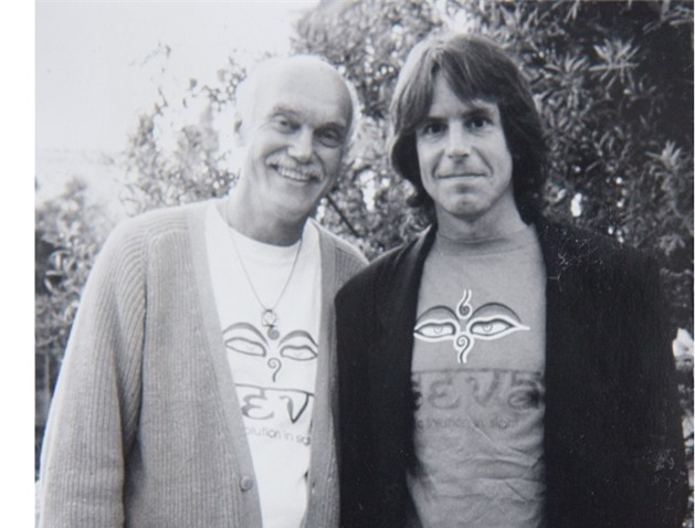 Ram Dass with Bob Weir