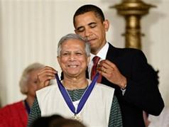 Dr Yunus and President Obama
