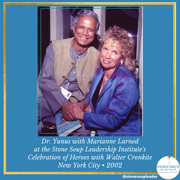Dr Yunus and Marianne Larned