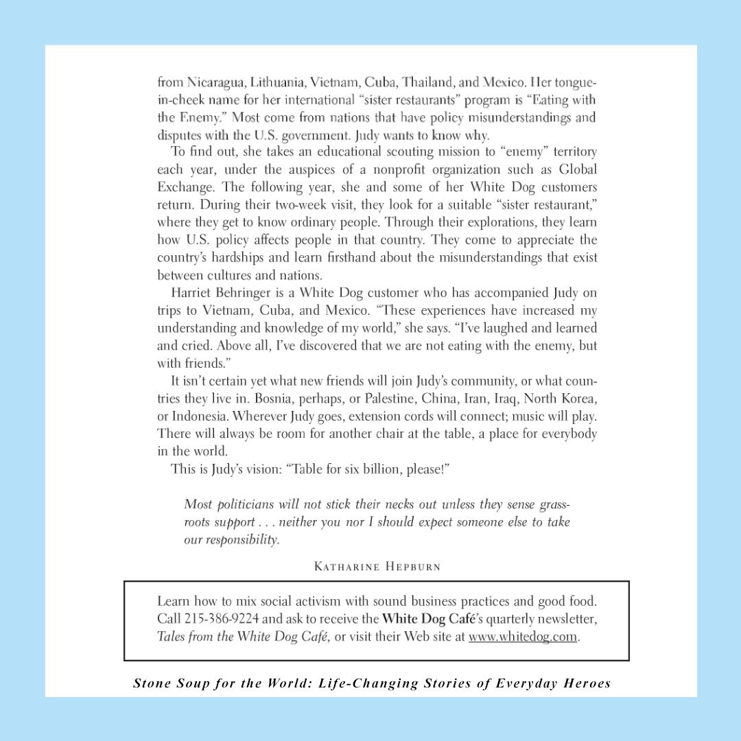 Judy Wicks story, page 3