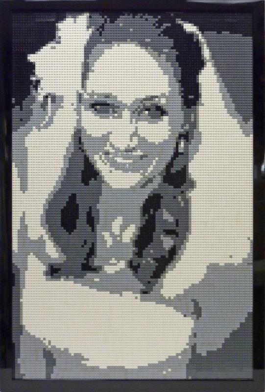 LEGO Bride framed at Color Wheel in McLean