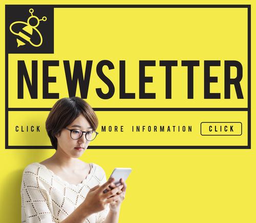 Hot News Newsletter Social Concept