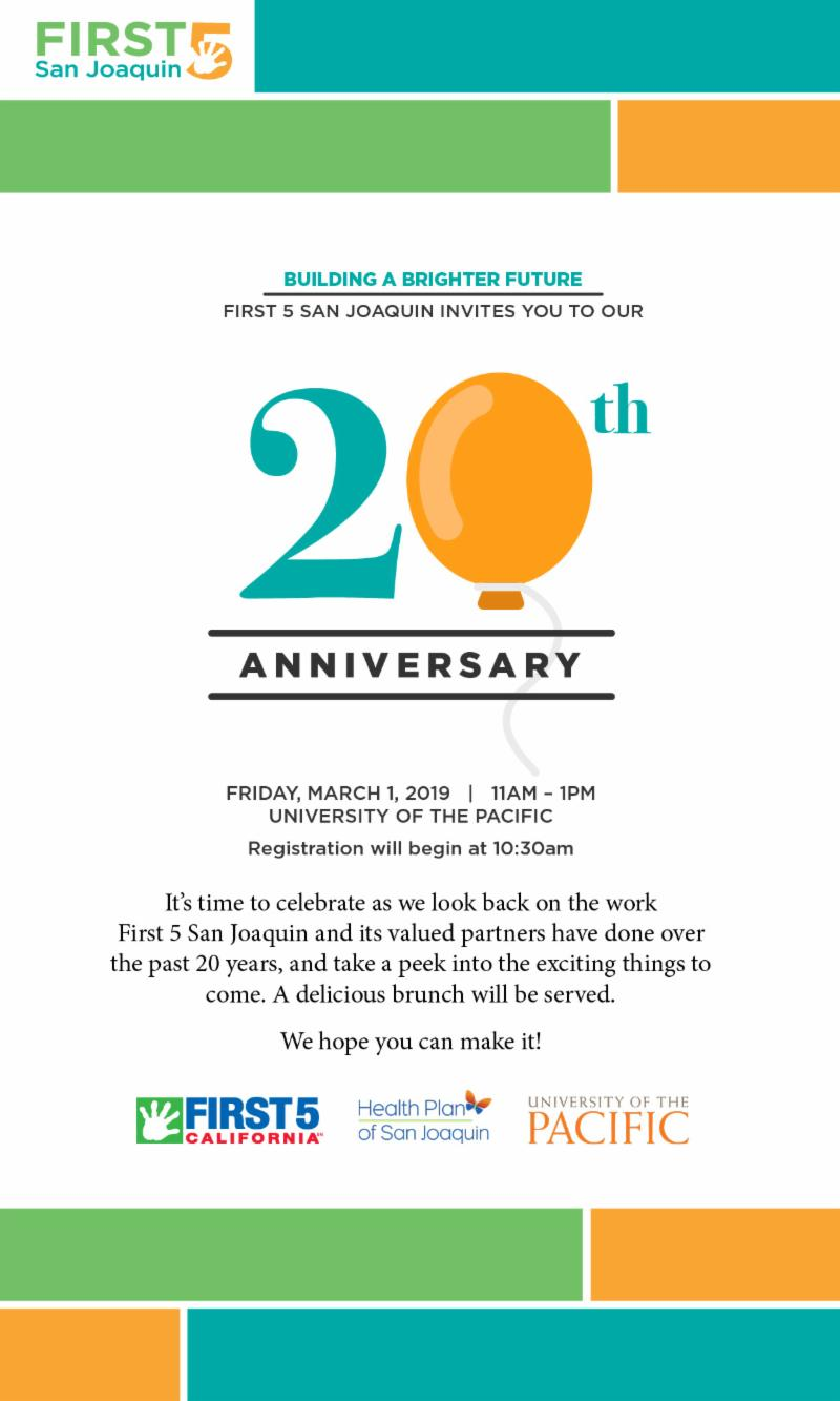 20th Invitation Email