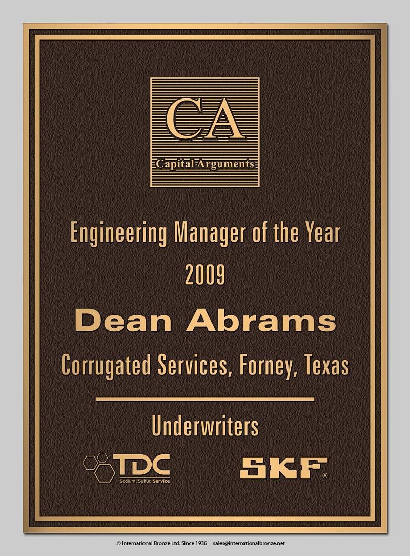 Deans Plaque