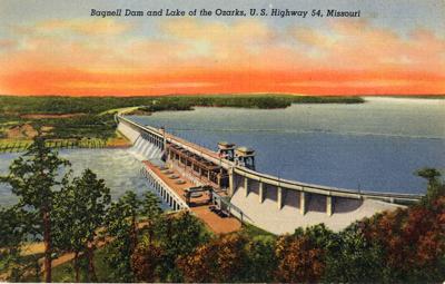 Bagnell Dam Postcard