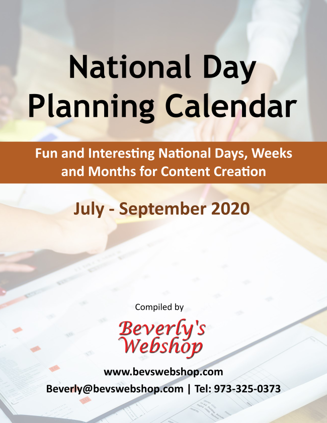 Special Holidays Planning Calendar