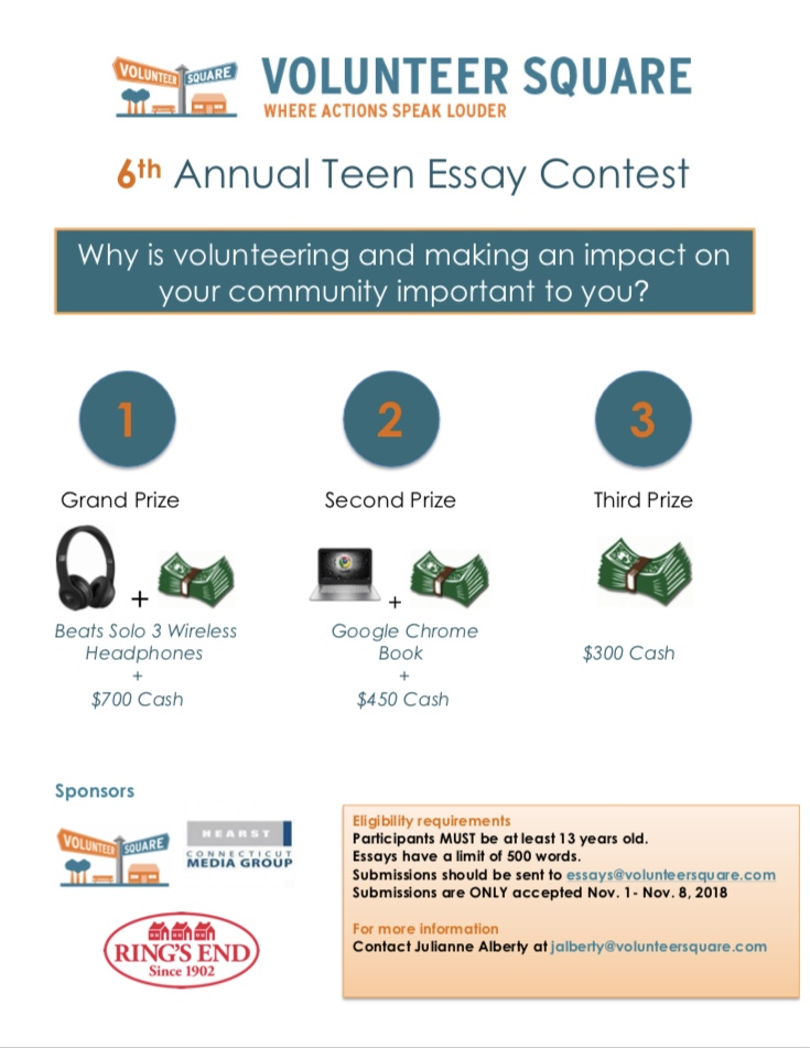 Spread The Word Volunteer Squares Th Annual High School Essay Contest To Enter The Contest Tell Us In  Words Or Less Why Volunteering And  Making An Impact On Your Community Important To You Argumentative Essay Thesis Statement Examples also Very Easy Diy Projects Analysis Essay Thesis