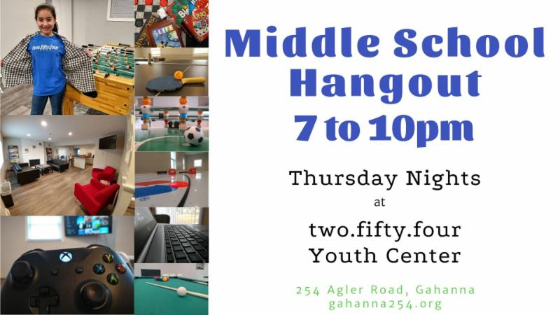 Info about Middle School Hangout at two.fifty.four.