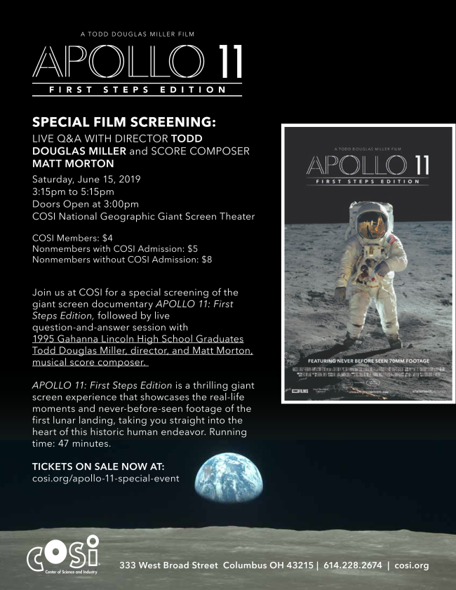 Information about Apollo 11 at COSI.