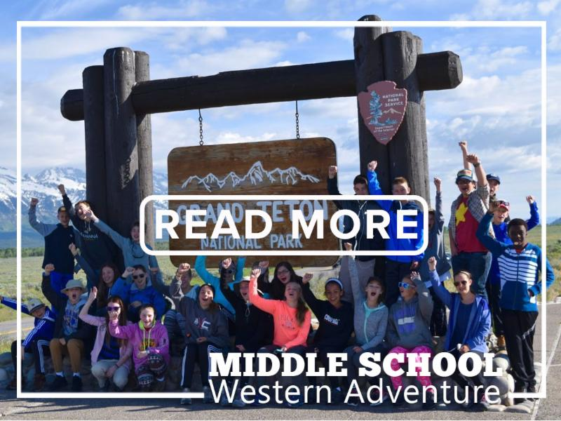 Video link for Middle School Western Adventure.
