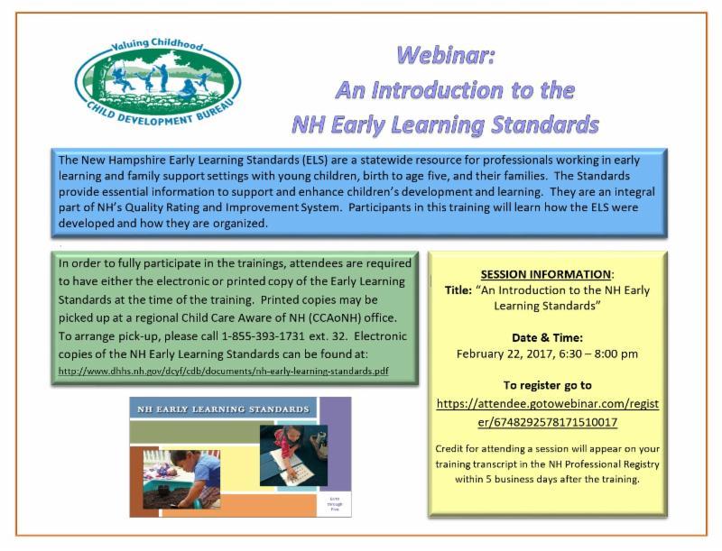 Nh Early Learning Standards Webinar