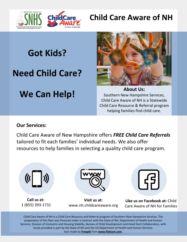 Child Care Aware of NH Flyer