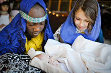 Photo of children in a nativity play