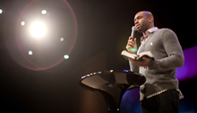 Photo of a pastor preaching