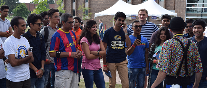 New Kent State International Students at Fall 2017 Welcome Picnic