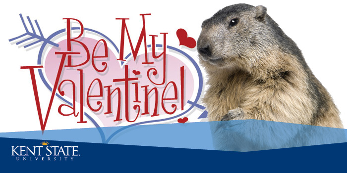 February is Valentine and Groundhog Days