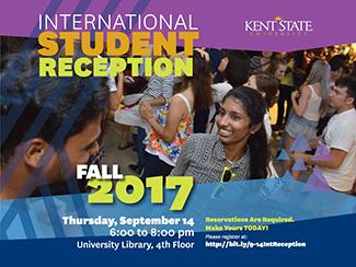 Fall 2017 Intenrational Student Reception. Main Library_ September 14