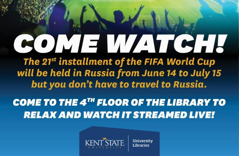 Watch World Cup Soccer at the Library_ 4th Floor_ June 14 to June15