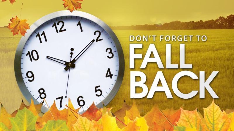 Daylight Savings Time Ends November 5