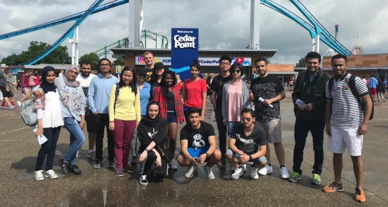 Kent State Students enjoy the thrills and spills at Cedar Point