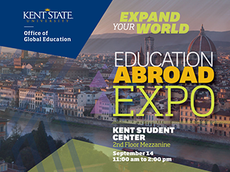Education Abroad Expo_ September 14_ Kent Student Center