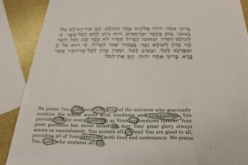 photo regarding Birkat Hamazon Text Printable referred to as CJDS Ma Koreh Weekly Publication