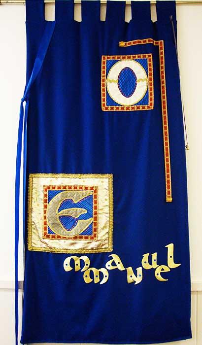 Emanuel Blue Advent Hanging