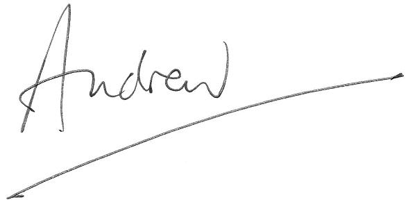 Andrew's signature