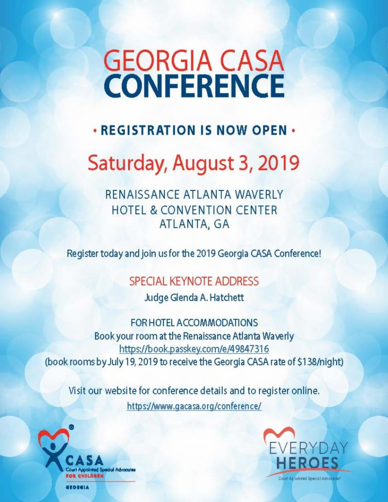 2019 Georgia CASA Conference Registration Open