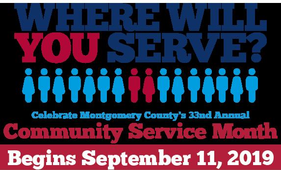 Community Service Month logo