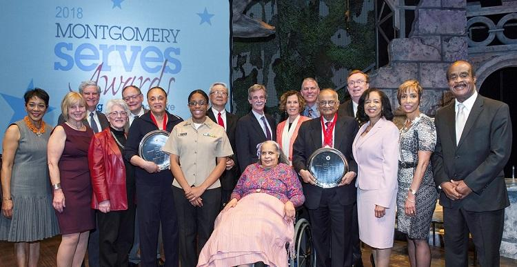 Montgomery Serves Awards winners & presenters